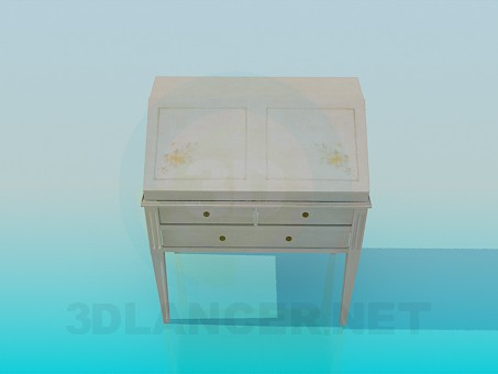 3d model Secretaire - preview