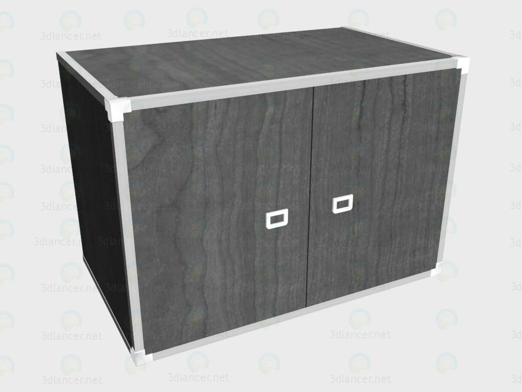 modelo 3D La extensión de 2-puerta del armario - escuchar