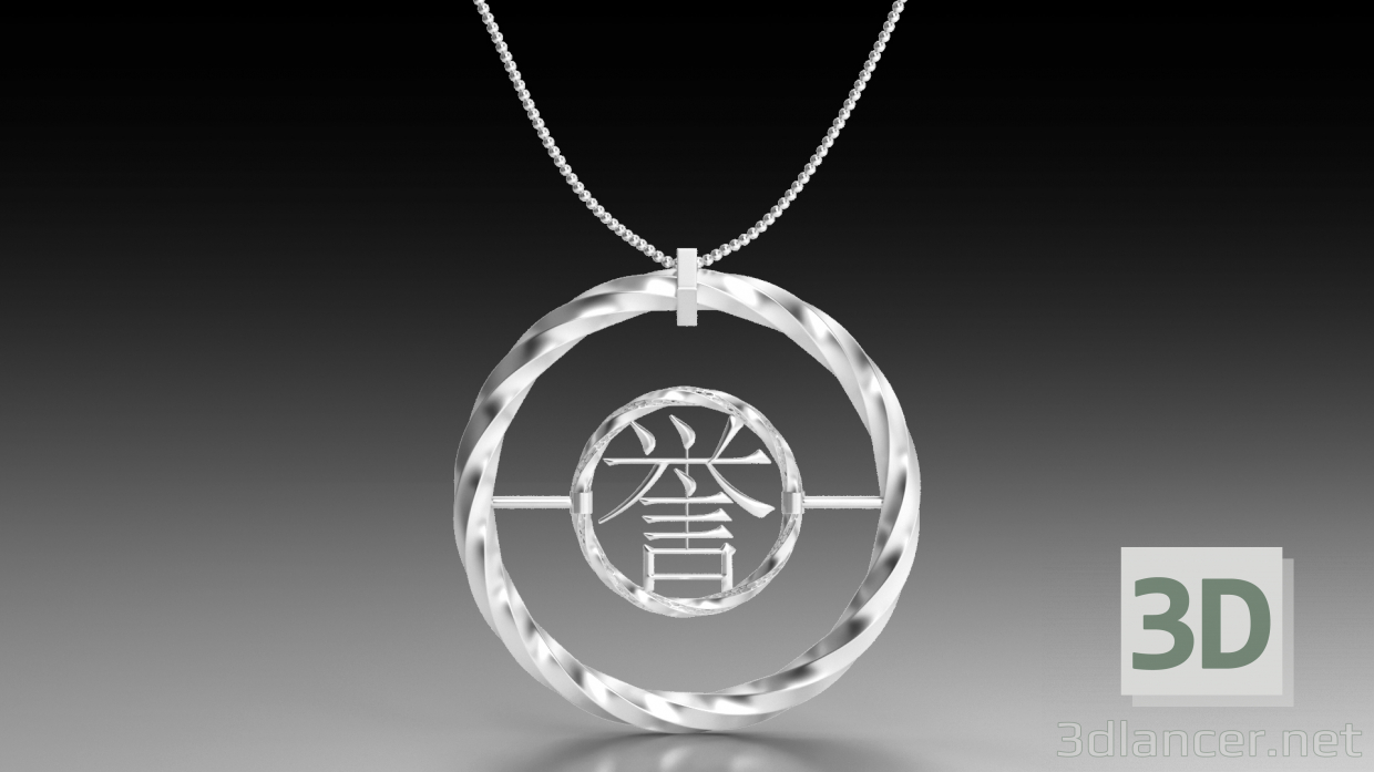 3d model Silver Necklace - preview