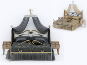 Art Nouveau Style Bed