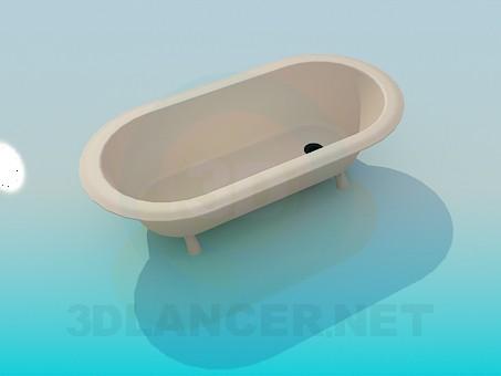 3d модель Небольшая ванна – превью