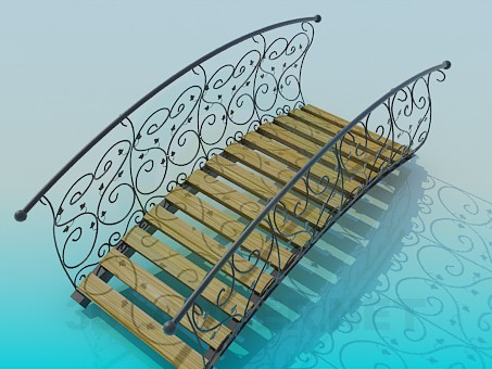 3d modeling Park bridge model free download
