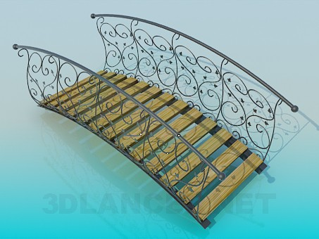 modelo 3D Puente del parque - escuchar