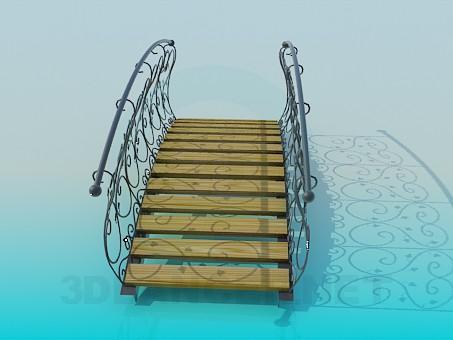 3d модель Парковый мостик – превью
