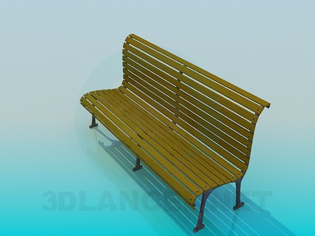 3d modeling Bench in the park model free download