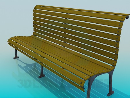3d model Bench in the park - preview