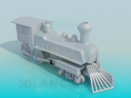 3d model Locomotive - preview