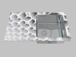 El acero-vidrio que se lava, 1 cámara con el ala para el secamiento - el borde del Pallas redondo (Z