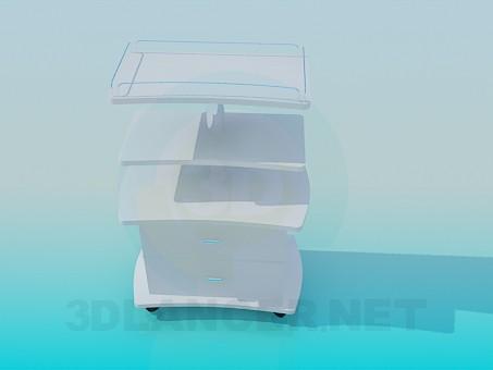 3d modeling Medical trolley model free download