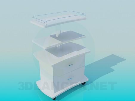 3d модель Медицинский столик на колесиках – превью