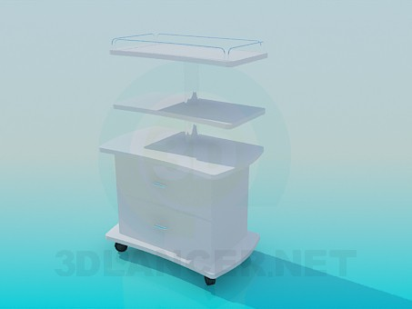3d model Medical trolley - preview