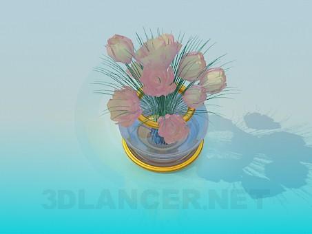 3D-Modellierung Vase Modell kostenlos herunterladen