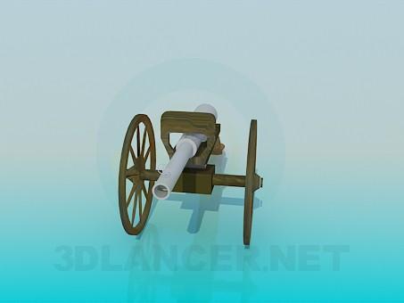 modelo 3D Pistola de alto ángulo - escuchar