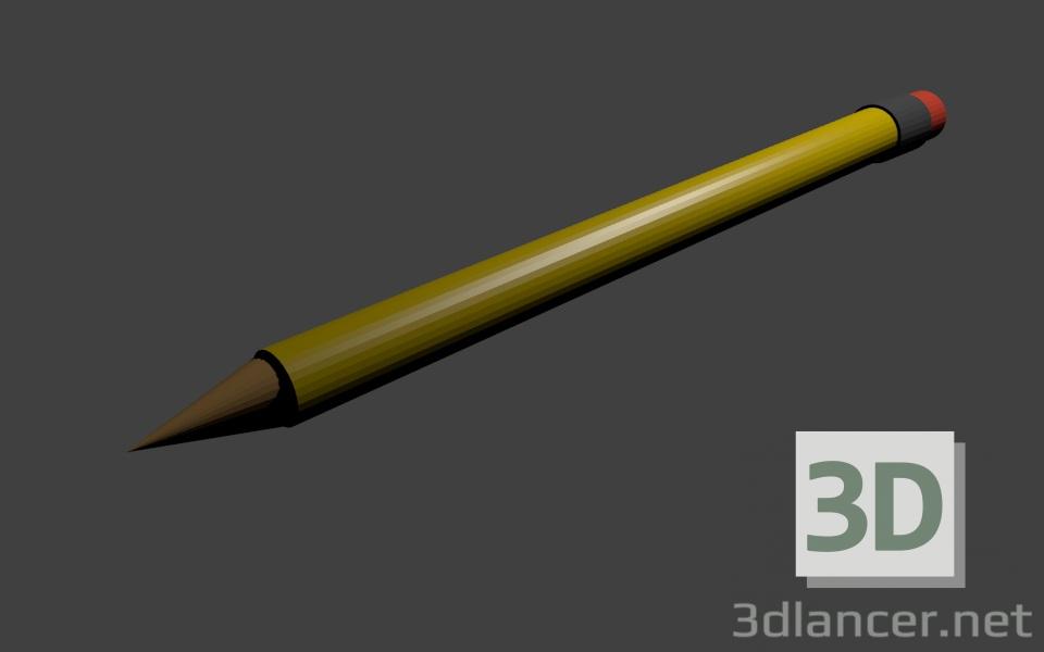 3 डी मॉडल पेंसिल - पूर्वावलोकन
