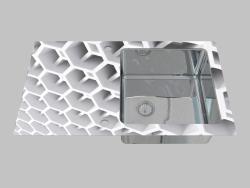Lavado de vidrio y acero, 1 cámara con un ala para secar - Edge Diamond Pallas (ZSP 0C2C)