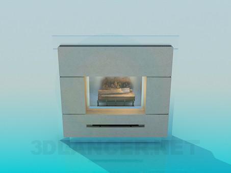 3d моделирование Камин модель скачать бесплатно