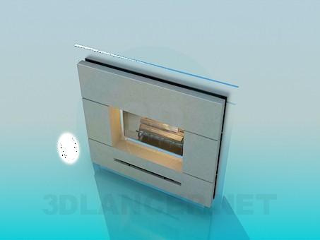 3d модель Камин – превью