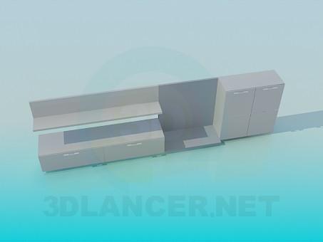 3d моделирование Мебель для видео и аудио техники модель скачать бесплатно