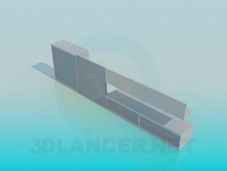 3d модель Меблі для відео і аудіо техніки – превью