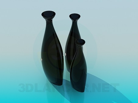 3d model Vases set - preview