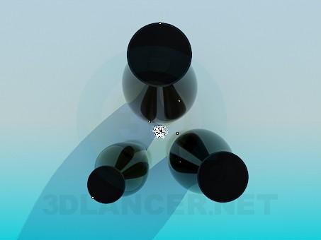 modelo 3D Conjunto de floreros - escuchar