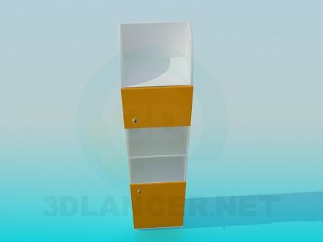 3d модель Этажерка с дверками – превью