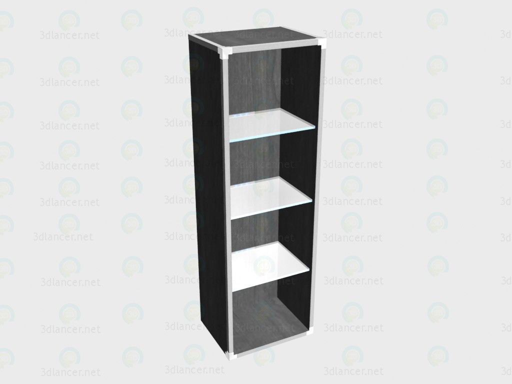 3d model Bookstand (with glass shelves and lighting) VOX - preview