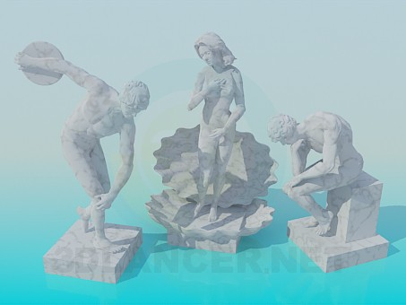 3 डी मॉडल मूर्तिकला - पूर्वावलोकन