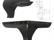 TRIANGOLO H.120 D.200, gloss black