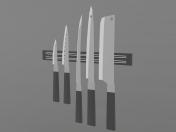 Set of 5 kitchen knives