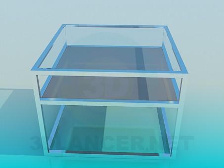 3d модель Квадратний журнальний столик – превью