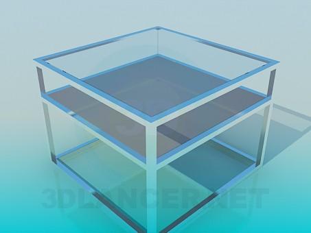 3d модель Квадратный журнальный столик – превью