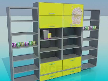 3d model Shelving for Children's room - preview