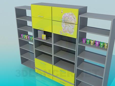 modelo 3D Estanterías para habitación de niños - escuchar