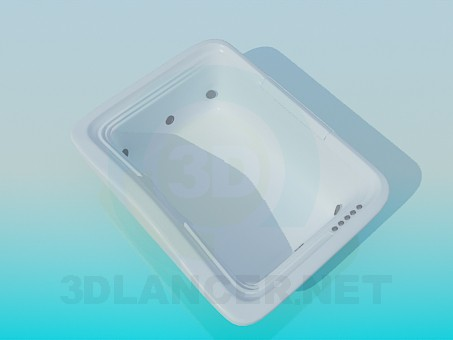 3d modeling Rectangular tub-jacuzzi model free download