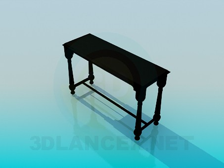 3d model Narrow table - preview