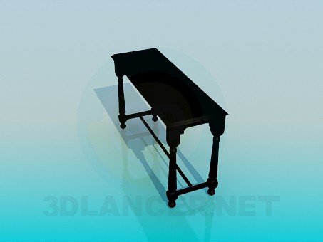 3d модель Узкий столик – превью