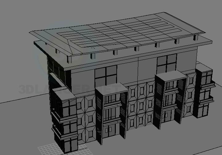 descarga gratuita de 3D modelado modelo Edificio