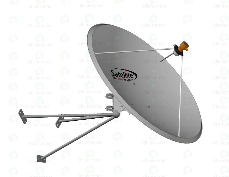 descarga gratuita de 3D modelado modelo Atenna satélite