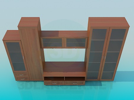 3d model Сabinet in the living room - preview