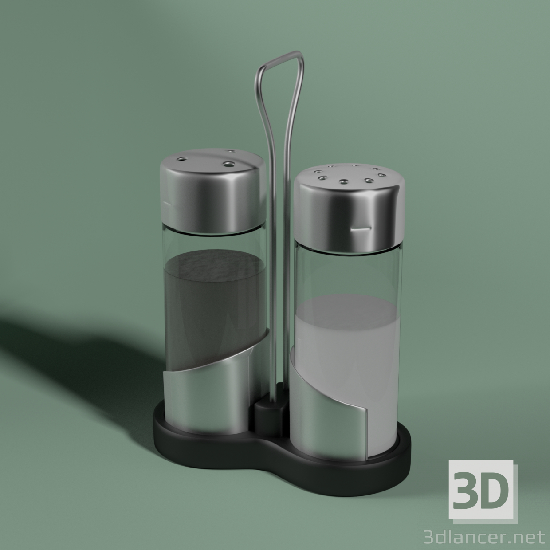 3d Salt and pepper shakers model buy - render