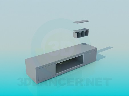 3d modeling TV stand model free download