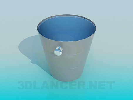Modelo 3d Balde de gelo - preview