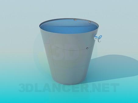 3d модель Ведерко для льда – превью