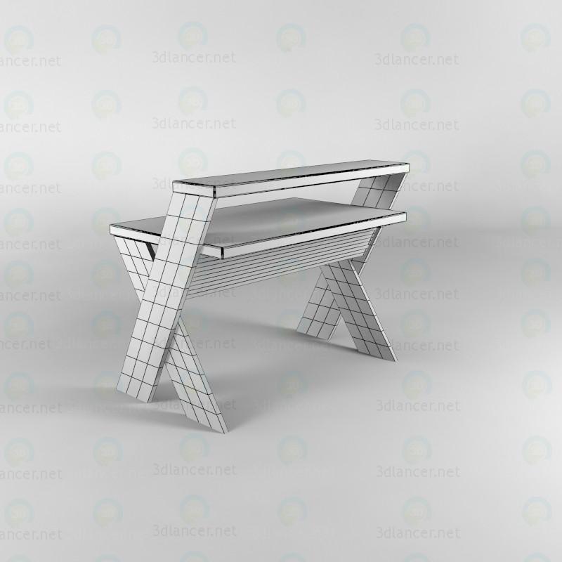3d  Computer desk  model buy - render
