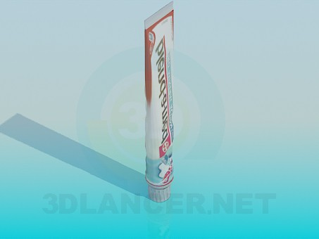 3d model toothpaste - preview