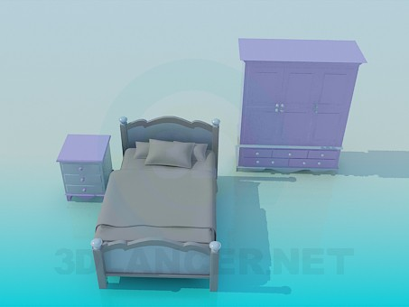 3d model Nursery furniture - preview