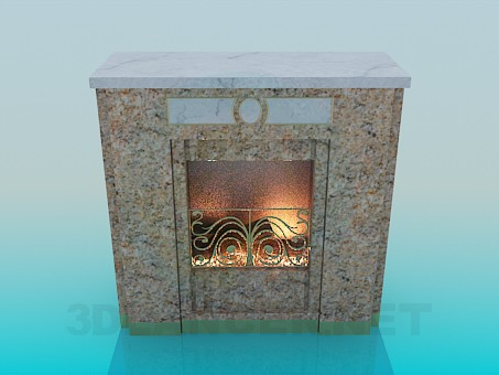3d modeling Fireplace model free download