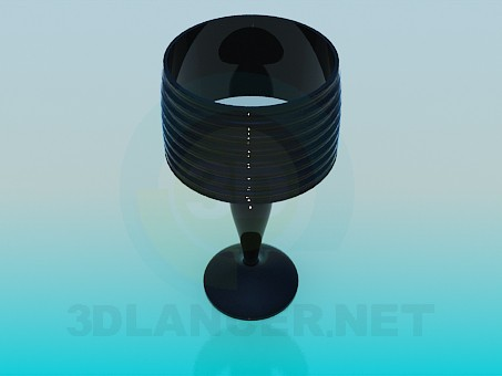 3d модель Скляна настільна лампа – превью