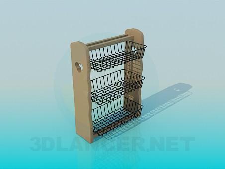 3d модель Кухонная подвесная полочка – превью